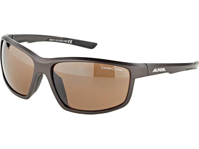 Alpina Defey Brille tin matt-black/brown mirror